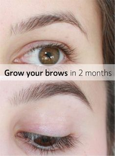 Grow out your eyebrows with oils