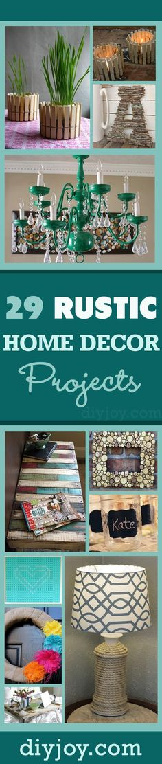 DIY Home Decor Ideas for Creative Do It Yourself Rustic and Vintage Furniture and Accessories Painted Chandelier, Decor Crafts, Home Crafts, Home Projects, Furniture Plans, Diy Furniture, Country Living, Dyi, Diy Rv