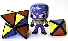 Solución Rubik: 2 pyramorphix = Pyradiamond + Pyrastar