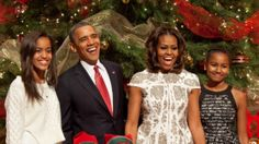 Obama's celebrating Christmas 2013 | president barack obama first lady michelle obama and daughters malia ...