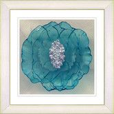"""Found it at Wayfair - """"Crystal Flower - Turquoise"""" by Zhee Singer Framed Fine Art Giclee Painting Print"""
