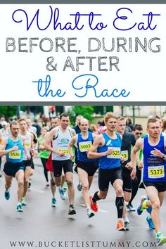 What and how much should you eat before, during and after a race? A race day nutrition plan is important, here's 5 things to focus on. Running Training Plan, Running Race, Running Tips, Strength Training, Post Workout Snacks, Workout Meals, Workouts, How To Run Faster, How To Run Longer