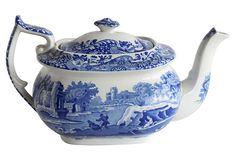 Copeland Spode Teapot in Blue Italian, on OneKingsLane.com