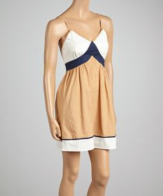 Love this Mocha Color Block Sleeveless Dress - Women by Aryeh on #zulily! #zulilyfinds