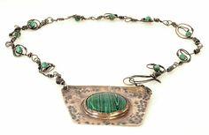 Ethnic Chic, Boho Chic, Copper Accessories, Ethnic Jewelry, Shibori, Hippy, Malachite, Pendant Necklace, Bracelets