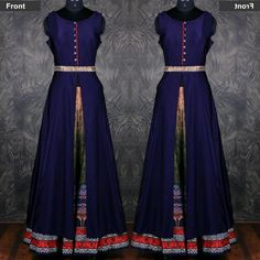 Blue Printed Banglori Silk Gown  Product Info : Top : Banglori Lehenga : Crepe Print  Price : 1500 INR Only ! #Booknow  World Wide Shipping Available ! ✈ PayPal / WU Accepted 👉 C O D Available In India ! Shipping Charges Extra 👉 Stitching Service Available 👉 To order / enquiry 📲 Contact Us : +91 9054562754 ( WhatsApp Only )