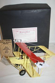 TUCHER WALTHER METAL-TIN GERMAN BI AIRPLANE IN BOX LIMITED EDITION VERY RARE 300