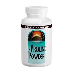 sports-fitness-athletic: Source Naturals, L-Proline Powder, 4 oz (113.4 g)
