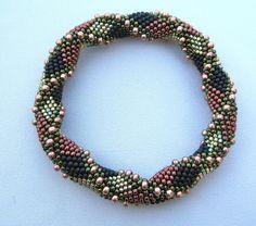 Bead Crochet Pattern:  Double Reverse Spiral to the 2nd Power. $7.50, via Etsy.  Linda Lehman
