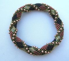 Bead Crochet Pattern:  Double Reverse Spiral to the 2nd Power. $7.50, via Etsy.