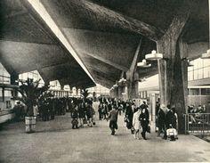 Dworzec PKP w Katowicach, początek lat 70' / Railway Station, Katowice, Poland, early 70's
