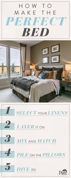 Your bedroom should be a relaxing and restful place. Get ready for some serious R&R and achieve the picture perfect bed. | Pulte Homes