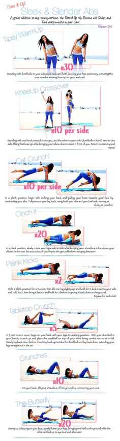 Sleek & Slender Abs Workout