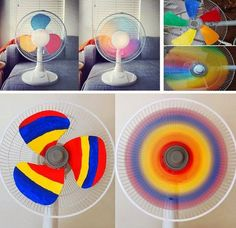 Amazing rainbow Fan idea