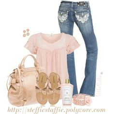 Nude, Pale Pink & Lace by steffiestaffie on Polyvore