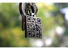 Custom QR Code key fob made on 3D printing machine.  That's two things I like!