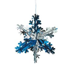 snowflake decoration - possibly hang from balloons to float down