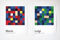 Scrambled Videogame Characters by Laura Vidal