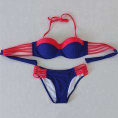 2 Pcs Bikini Tankini Set Women's Swimwear Bathing Suit P93C