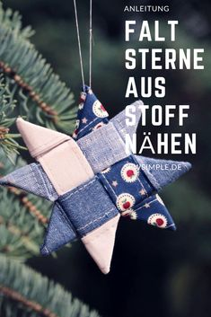 Sterne aus Stoff nähen Sew folding stars out of fabric. A nice idea for atmospheric Advent and Christmas decoration. With my instructions, even beginners can easily make these Scandinavian stars for Christmas. Diy Projects For Kids, Easy Sewing Projects, Sewing Projects For Beginners, Sewing Hacks, Diy For Kids, Sewing Crafts, Christmas Decorations, Christmas Ornaments, Christmas Fabric