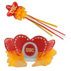 USC Trojans Princess Tiara & Wand Set
