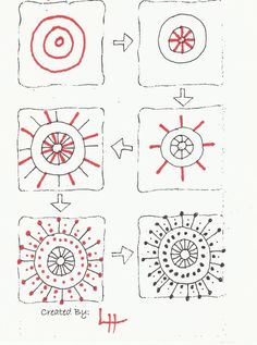 ideas flowers art drawing step by step zentangle patterns for 2020 Zentangle Drawings, Doodles Zentangles, Zentangle Patterns, Doodle Drawings, Easy Zentangle, Zen Doodle Patterns, Tangle Doodle, Tangle Art, Easy Doodle Art