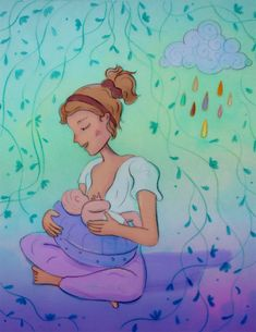 Illustrations on becoming a mother – Eszter Kónya Illustration Disney Characters, Fictional Characters, How To Become, Illustrations, Disney Princess, Books, Design, Art, Art Background