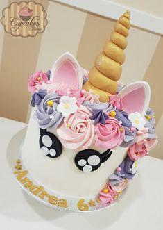 9th Birthday, Unicorn Birthday, Unicorn Party, Girl Birthday, Birthday Ideas, Birthday Cake, Birthday Parties, Buttercream Flowers, Layer Cakes