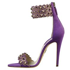 David Atwood studded ankle strap heels