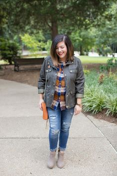 Plaid button down, fall outfit idea, winter outfit idea