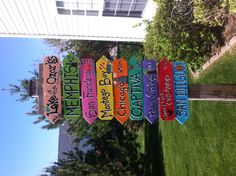 Family vacation garden sign