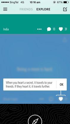 Heart intro on Secret App.