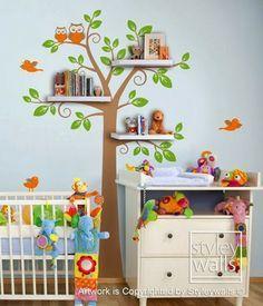 Selva salvaje animales vinilo vinilos paredes pegatina for Pegatinas dormitorio bebe