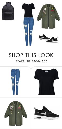 """""""Untitled #75"""" by elma-alibasic ❤ liked on Polyvore featuring Topshop, Frame, WithChic and NIKE"""