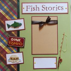 FISH STORIES 12x12 Premade Scrapbook Pages GoNE by JourneysOfJoy, $15.00