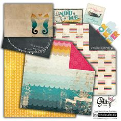 Glitz Design unveils their new nautical line – Uncharted Waters. This collection includes an amazing colour combination with a seaside flair to it, making it the perfect collection for all your summer, beach, vacation, tropical travel and other sunny layouts and cards. Roller Doodles border stamps are back in great fresh designs and the collection is also complete with all your must-have scrapbooking supplies including washi tapes and, rubber stamps.