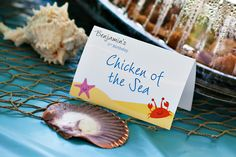 """Under the Sea party printables from Chickabug. """"Chicken of the Sea"""" - CUTE!"""