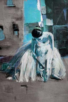 Ballerina 21 Painting by Mahnoor Shah