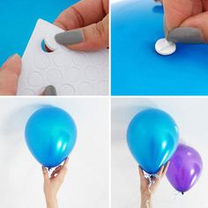 Party Supplies 200 Points Double-Sided Tape For Balloon Hang Photos Adhesive Dots Small Sticker & Garden Ballon Decorations, Birthday Party Decorations, 1st Birthday Parties, Latex Balloons, Foil Balloons, Hanging Balloons, Deco Baby Shower, Office Birthday, Hanging Photos