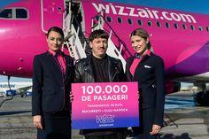 100 000 de pasageri au fost transportați de Wizz Air pe ruta București – Cluj-Napoca