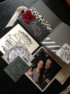 Gorgeous Triple Pocketfold Wedding Invitation by PaperLuxuries, $20.00