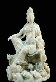 Nephrite Jade Guan Yin