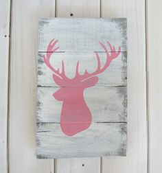 A personal favorite from my Etsy shop https://www.etsy.com/listing/255578543/reclaimed-barn-pallet-wood-sign-deer