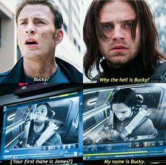 CHARACTER DEVELOPMENT.....and when Shuri calls him Sargent Barnes, he says 'it's Bucky'!!!