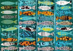 les petites têtes de l'art d'après 5 poissons Eloïse Renouf