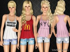Top with shorts by sims2fanbg - Sims 3 Downloads CC Caboodle