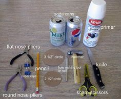 supplies for soda can flowers, Give step by step...Need to start make these have bags save full of cans.