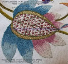 E-EE001 18th century English crewelwork