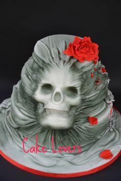 3 d skull cake