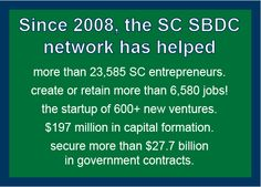 SC Business Development Centers (SBDC), they offer mentoring, workshops and resource assistance to small businesses. http://www.scsbdc.com/
